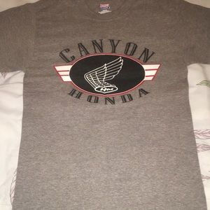 """Canyon Honda"" T shirt gray short sleeve Hanes"